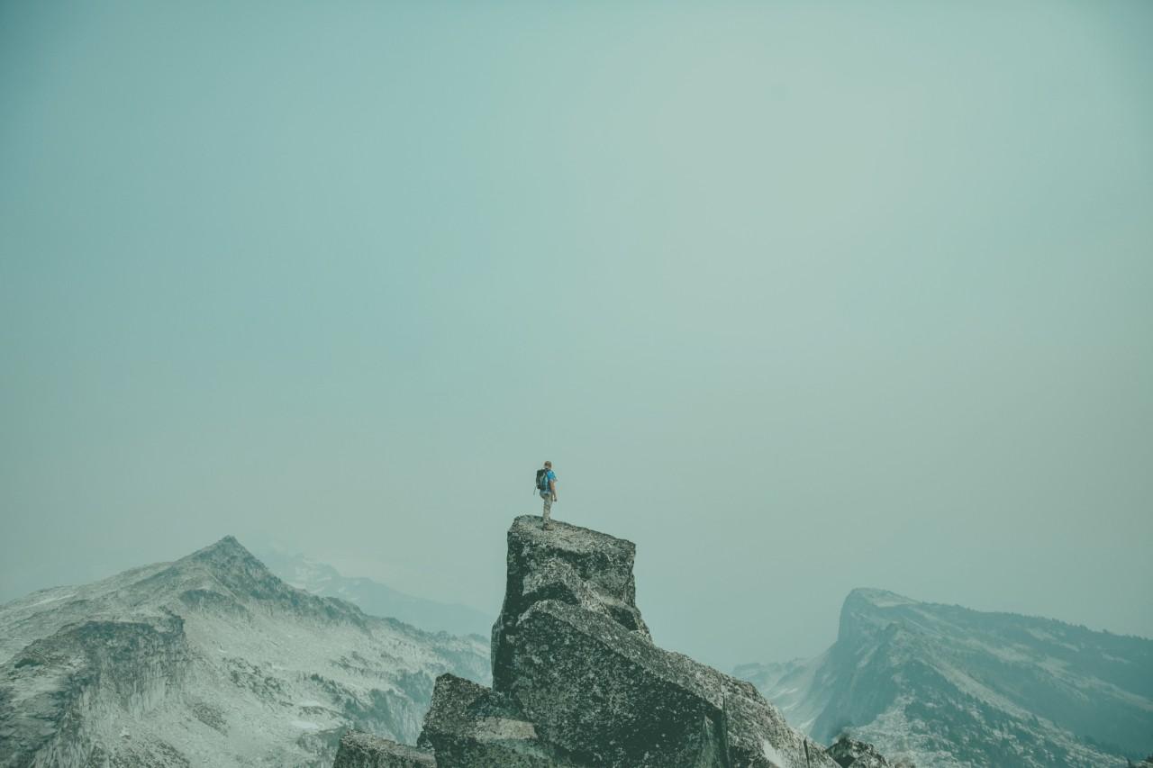 Bergstopp som header för håll it-förvaltningen levande